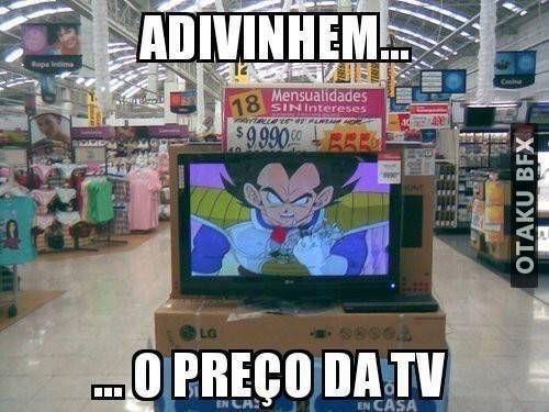 Essa TV é de mais de 8000! meme dragon ball