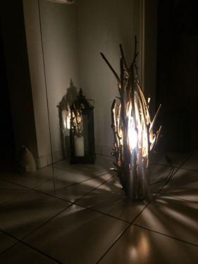 Epic Lampe Holz Treibholz DIY Stehlampe Design in Nordrhein Westfalen H rth Lampen gebraucht kaufen