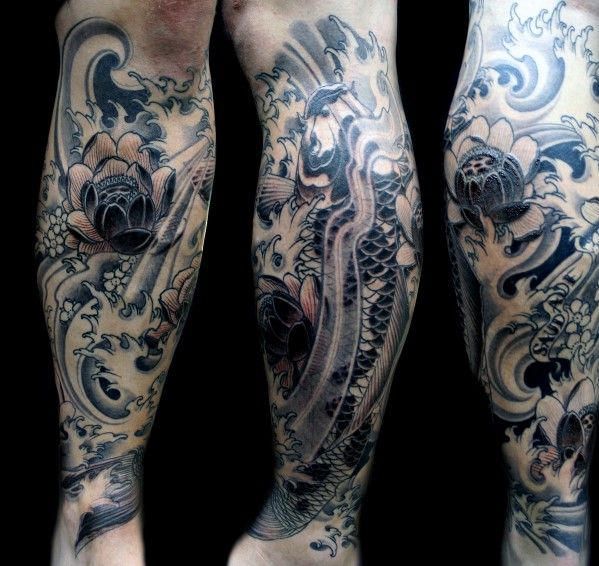 Tattoo For Man In Leg