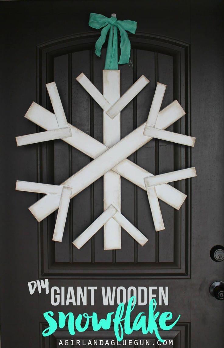 Make A Giant Wood Snowflake Wood Snowflake Wooden Snowflakes Wooden Diy