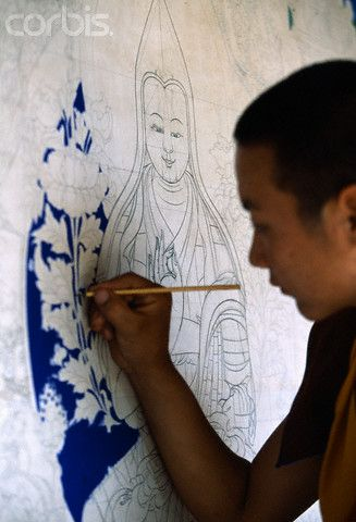 Monk Creating Tanka