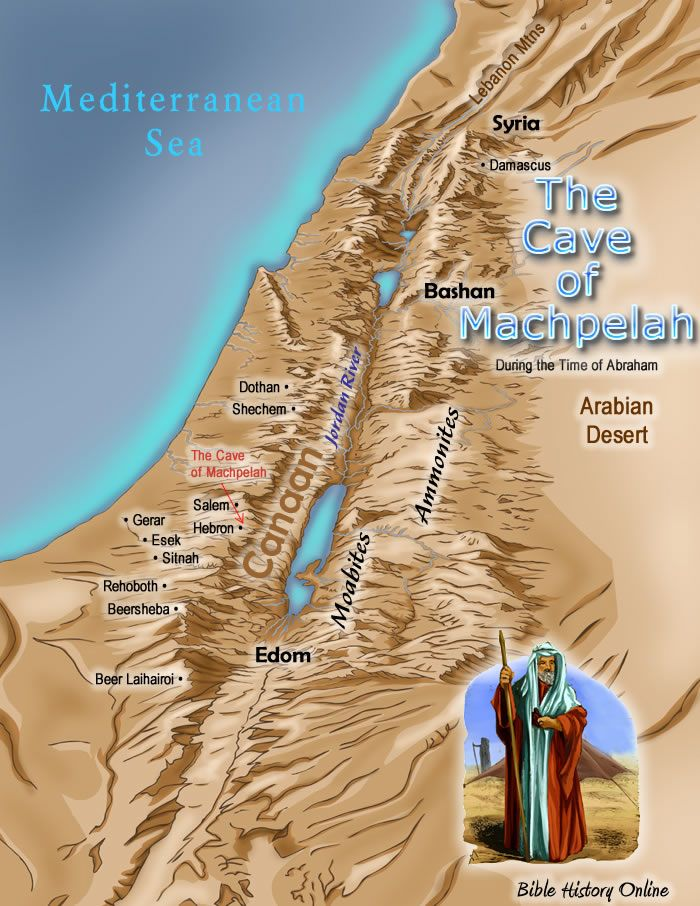 Map of The Journeys of Isaac Bible