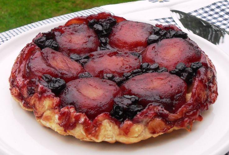 Apple & Blueberry Tarte Tatin