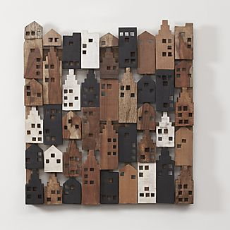 199 on Crate and Barrel ....Village Wood Wall Art