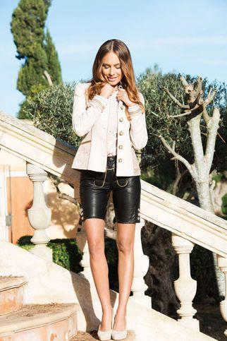 Lederhose Damen mal anders: Schick und elegant leather shorts