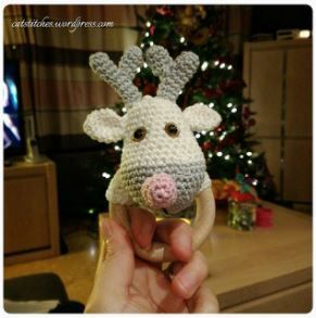 Reindeer rattler - free pattern link on the blog!