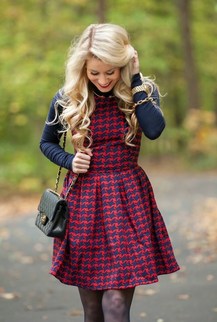 Red Houndstooth | Fall Fashion | Olivia Rink.com