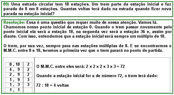 Exercícios Resolvidos - M.M.C. - Matemática Muito Fácil - Aritmética
