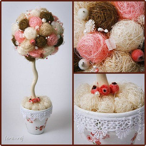 Работы из сизалевых шариков. Вдохновитель - Мария Шарафеева. Огромное спасибо фото 5