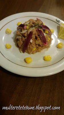 RETETE: Salata de ton cu porumb si ceapa