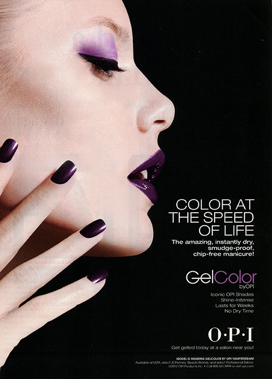 Purple Lips for Fall, OPI advertisement. The Bobby Pin Blog