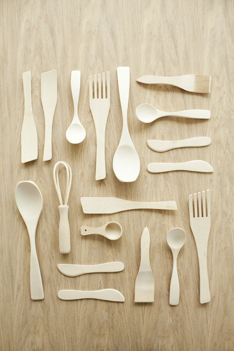 wooden cutlery - Susanna Vento styling, Interior design for Housing fairs in Kokkola 2011