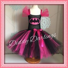 Batman Tutu Dress. Batgirl Tutu Dress. Inspired by DiddyDarlings
