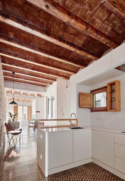 Galer a de reforma piso eixample de barcelona for Decoracion piso eixample