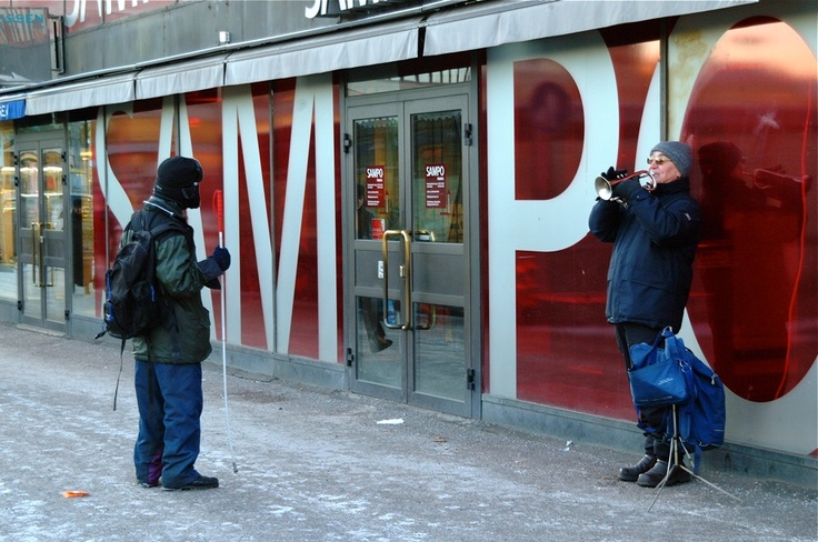 The Trumpeter and the Blind Man ~ 23 photos of Helsinki, Finland