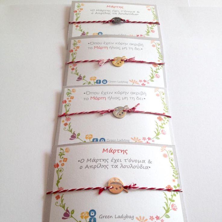 Silver ladybug March bracelet