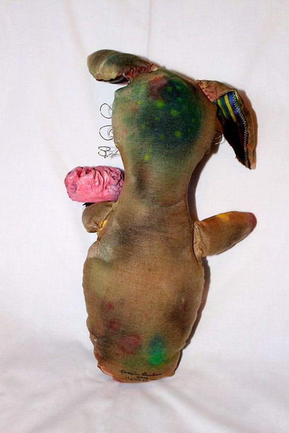 Silkmouth the Zombie Bunny Art Doll by jessicarenahan on Etsy, $60.00