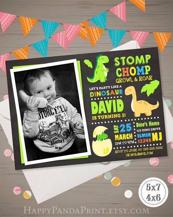 The 25 best Dinosaur birthday invitations ideas on Pinterest
