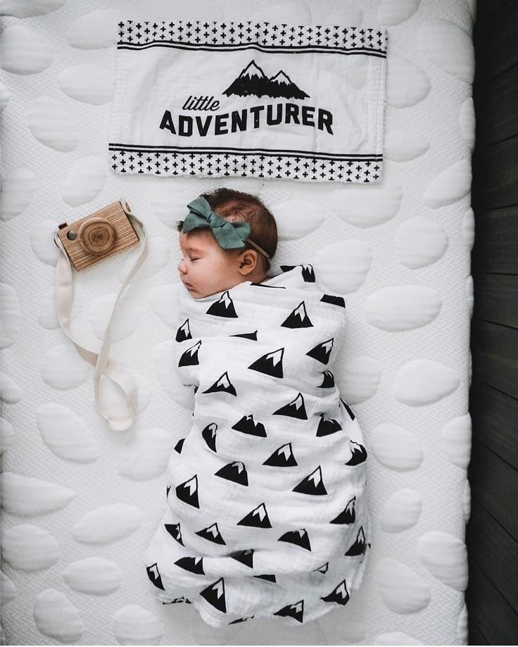 Weekends are for adventures... and naps! Love this Modern Burlap Mountains swaddle blanket.