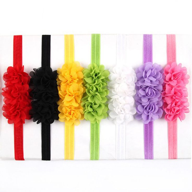 Baby hair accessories Kids cloorful flower headband bandeau bebe infant bandeau chiffon Summer style girl head band 10pcs HB330