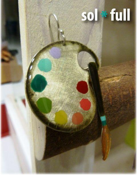 'Artist' earrings at Solfull.