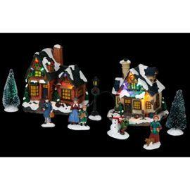 Village De Noël - 2 Maisons - Décoration