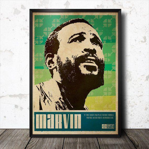 Marvin Gaye Soul Funk Art Poster Poster Art Art Marvin Gaye