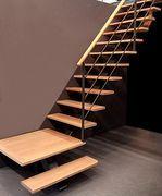 Escalier métallique et bois design BOSTON Oéba