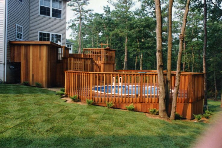 16 best outdoor steps carl 39 s images on pinterest for Above ground pool decks nj