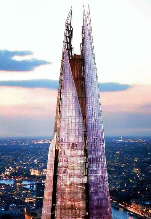 "London Bridge Tower (""The Shard""), London (United Kingdom) l Renzo Piano Building Workshop RPBW l 2000-2012"