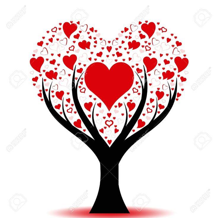 шаблон дерево с сердцем - Поиск в Google