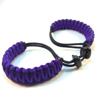Acid Purple Adjustable Paracord Handcuffs #everythingparacord #paracord #handcuffs #purple
