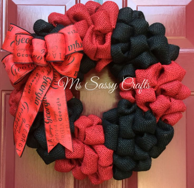 UGA Burlap Wreath - Georgia Burlap Wreath - University of Georgia Wreath - Georgia Wreath - Dawgs Wreath - Bulldogs Wreath - Bulldogs Burlap by MsSassyCrafts on Etsy https://www.etsy.com/listing/243698353/uga-burlap-wreath-georgia-burlap-wreath