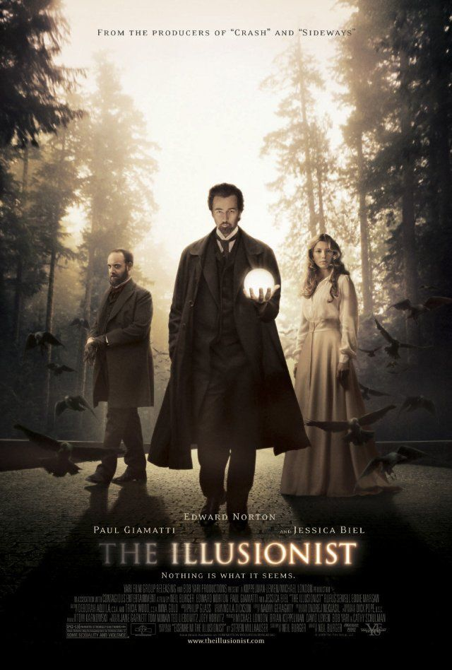 Magic and movies don't often mix well, however writer/director Neil Burger and his stellar cast deftly pull off some impressive parlor tricks in The Illusionist. A crisp, intelligent, dynamic confection, The Illusionist is the right blend of romance and mystery, and a true piece of movie magic. Based on the short story Eisenheim the Illusionist by Steven Millhauser, The Illusionist starring Edward Norton, Jessica Biel and Paul Giamatti is one of just a handful of real must-see films of 2006
