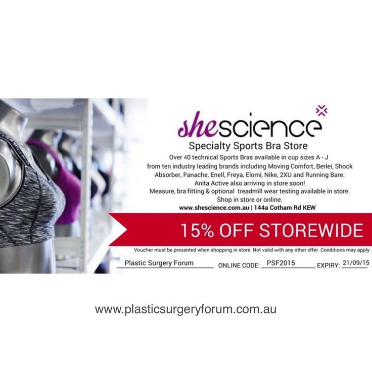 @shescience has gifted PSF a discount code for use store wide. Make sure you check out the latest PSF blog to see their motion analysis software in action http://plasticsurgeryforum.com.au/blog/she-science-the-prescription-sports-bra/ #preop #postop #PSFblog #psf_australia #plasticsurgeryforum #plasticsurgery #bra #breastaug #boobjob #breastlift #breatimplants #running #sportsbra #sportsbras #brafittingspecialist #cosmeticprocedures #cosmeticprocedures #bounce #sag #prescriptionbra