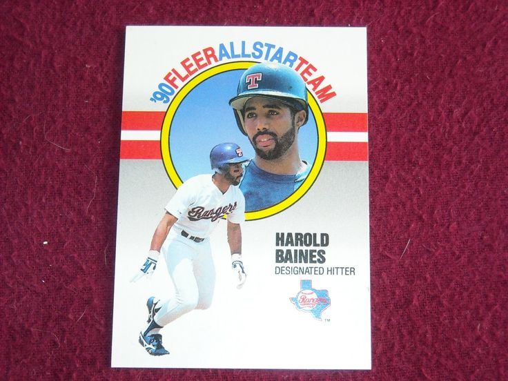 Harold Baines Rangers Designated Hitter Card No. 1 (BC1) '90 Fleer All Star Team Baseball Card - for sale at Wenzel Thrifty Nickel ecrater store