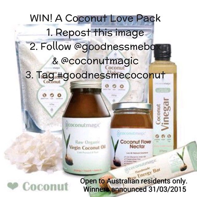 """""""We are going nut for coconuts this month and as a result we have a teamed up with @coconutmagic for one of you to win this amazing coconut prize pack…"""""""