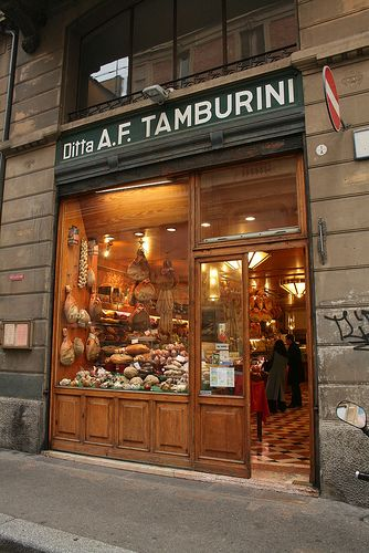 Tamburini is the main fresh food cafe within Bologna's food district, Quadrilatero that one must stop at if you visit this region of Italy. Tamburini! by old underthewaves, via Flickr