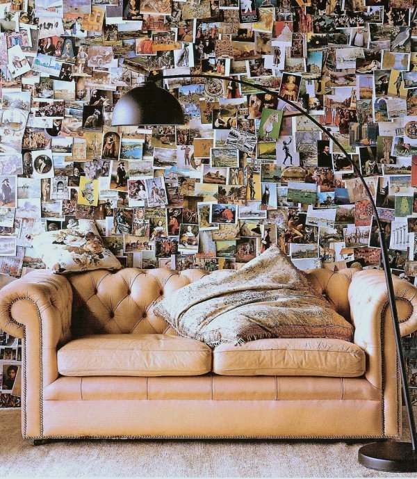 Postkarten Wandgestaltung-Wohnzimmer