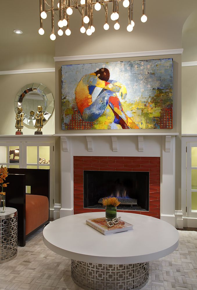 Art Of The Fireplace /Painting By Jylian Gustlin