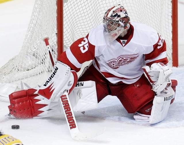 Jimmy Howard, Goalie, goaltender, Detroit Red Wings.