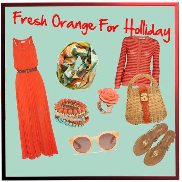 Fresh Orange For Your Holliday by ekamulya on Polyvore