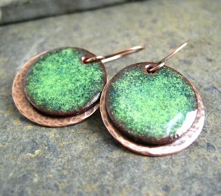 Cinnamon Jewellery: Torch Enamelling copper - some information on enameling - some lessons learned