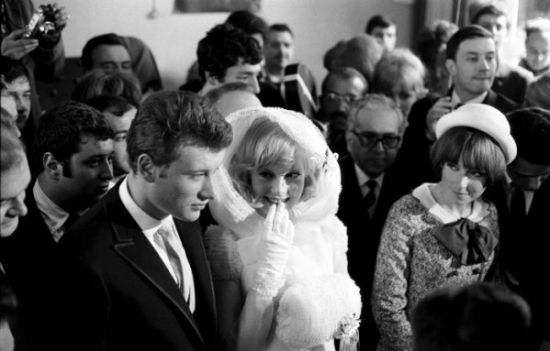 sylvie vartan and johnny hallyday vintage weddings pinterest. Black Bedroom Furniture Sets. Home Design Ideas