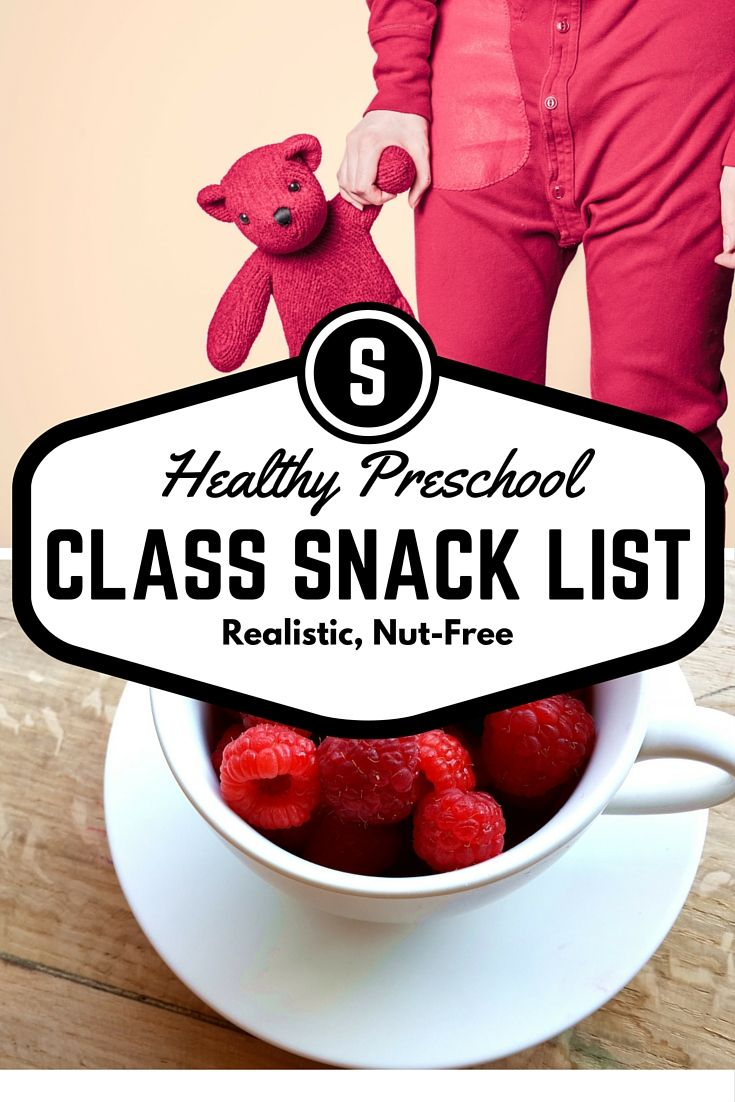 Healthy Preschool Snack List for Classwide Snacks. Great for daycares as well. Built to be simple for parents/teachers and age-appropriate for toddlers and young preschoolers.