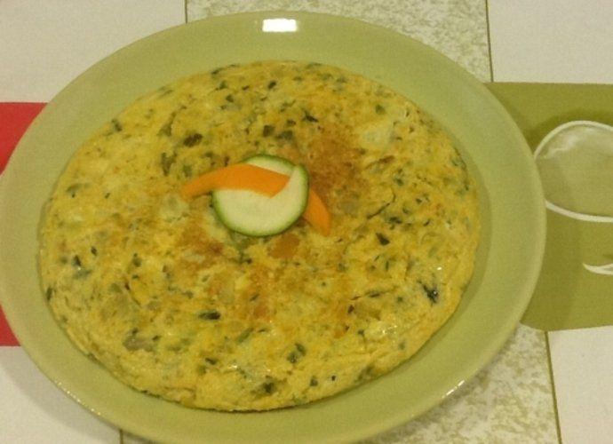 Tortilla de Calabacin y Calabaza para #Mycook http://www.mycook.es/cocina/receta/tortilla-de-calabacin-y-calabaza