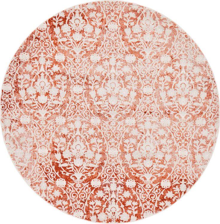 Terracotta 6u0027 X 6u0027 New Vintage Round Rug | Area Rugs | ESaleRugs