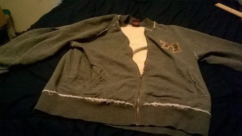 9.89$  Buy now - http://viede.justgood.pw/vig/item.php?t=8j1dts16235 - CREMIEUX GRAY Full Zip Sweatshirt Jacket XL 5