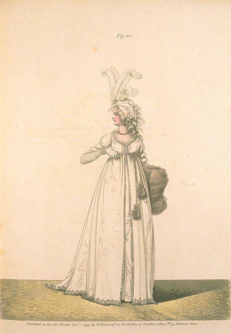 Gallery of fashion December 1795 - Afternoon dress