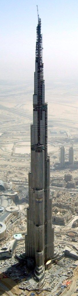 During construction ... Burj Khalifa, Dubai, UAE